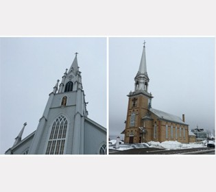 How does Carleton-sur-Mer will save two churches?