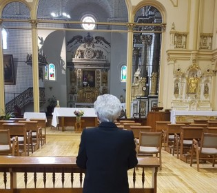 The last farewell of the Ursulines to their monastery
